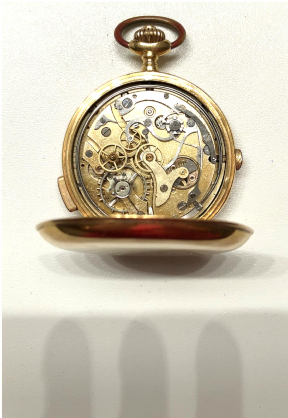 7062345dd Reloj cronógrafo y de sonería a repetición de bolsillo en oro ...