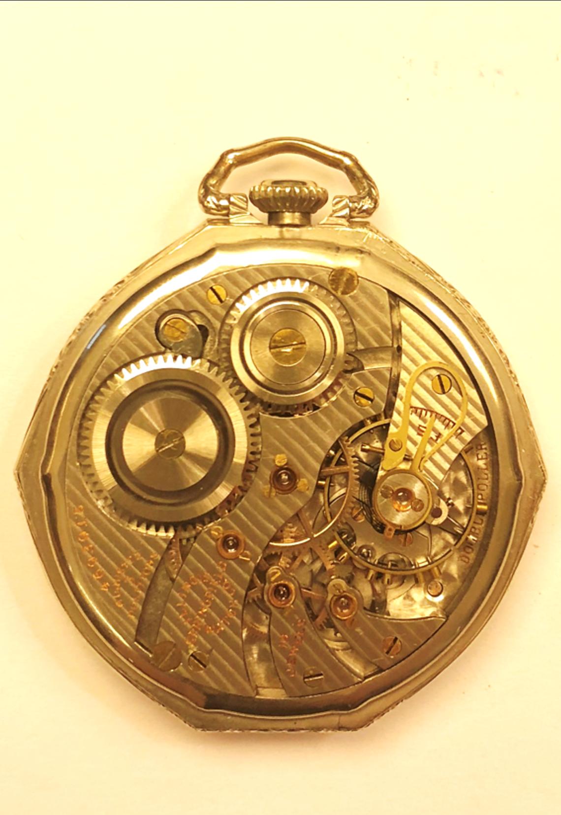 11f9640f5 DATACIÓN HISTÓRICA. Siglo XX, circa 1924. PAÍS Estados Unidos. DESCRIPCIÓN.  Realizado por maestros relojeros de la ILLINOIS SPRINGFIELD WATCH COMPANY  ...