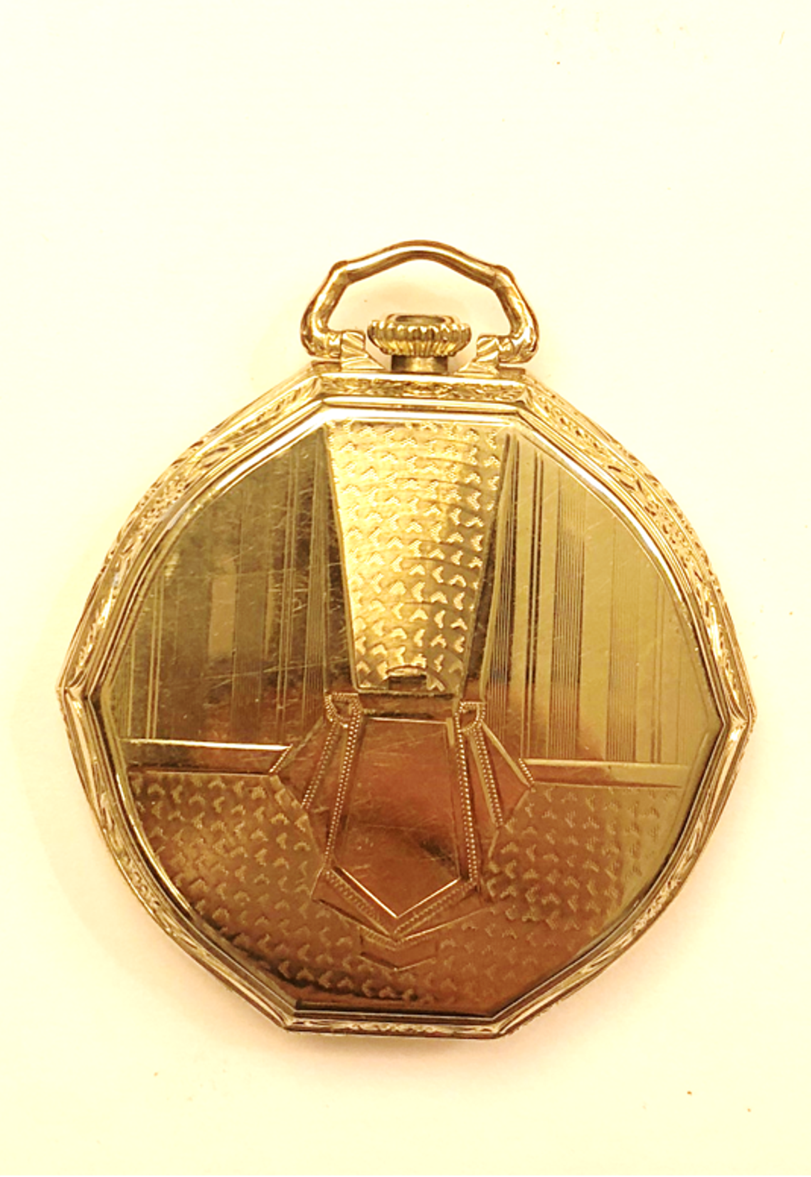 861ecaba2 Reloj estilo lepine con inusual segundero saltante de la marca ILLINOIS  SPRINGFIELD, EE.UU. realizado en níquel y cromo.