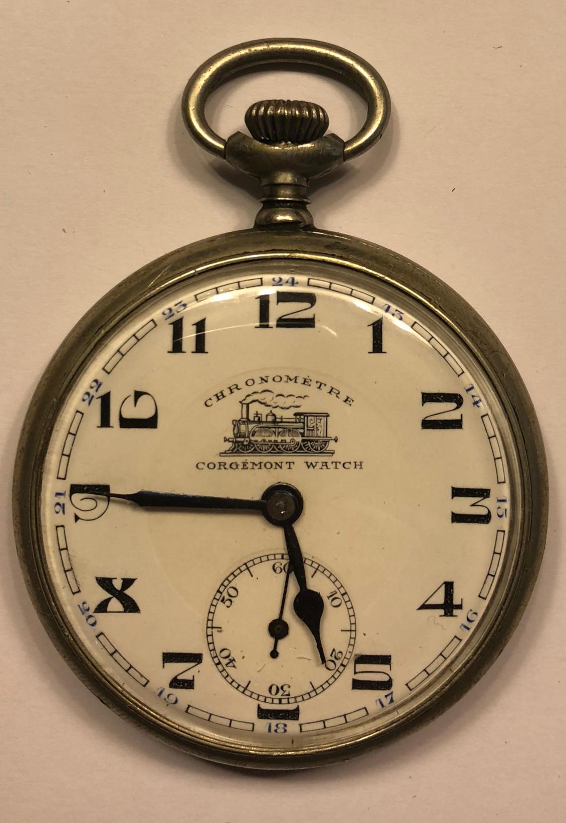 Reloj estilo lepine para ferroviario de la marca CORGÉMONT