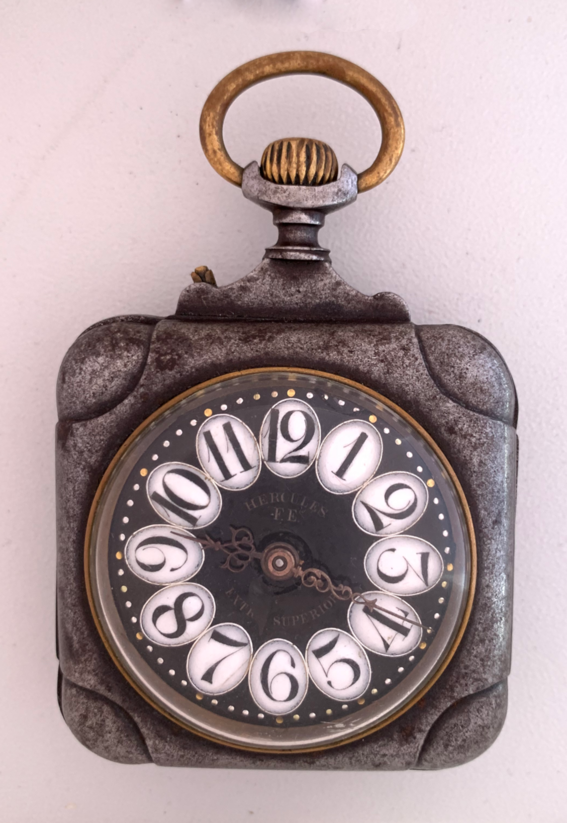 De Reloj Internacional Alta F eMuseo Hércules Cuadrado Relojería 3LAj54Rq
